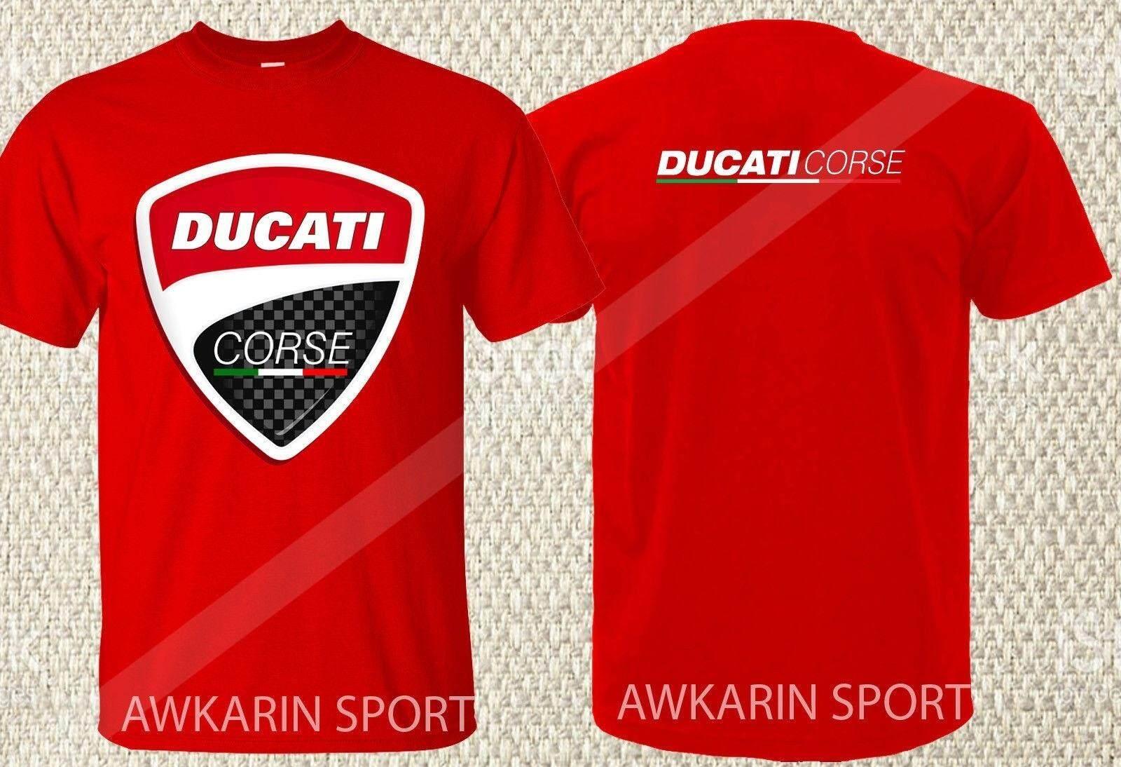 Ducati Corse Moto GP Racing Camiseta Large Logo Negro Oficial 2018