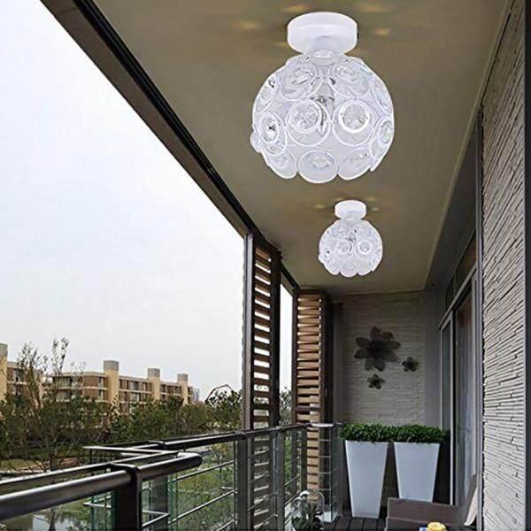 E27 Nordic Style Home Decorative Hotel Ceiling Flush Mount Crystal Dining Room Lamp Shade