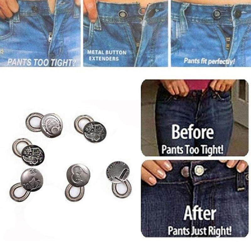 6x Waist Extender Jeans Pants Stretch Button Metal Freedom Styles Elastic Expanders