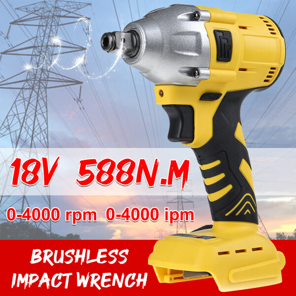 588N.M 1/2 18V Electric Impact Wrench Socket Wrench Power Tool Brushless Cordless Rechargeable Drill Power Tool DIY