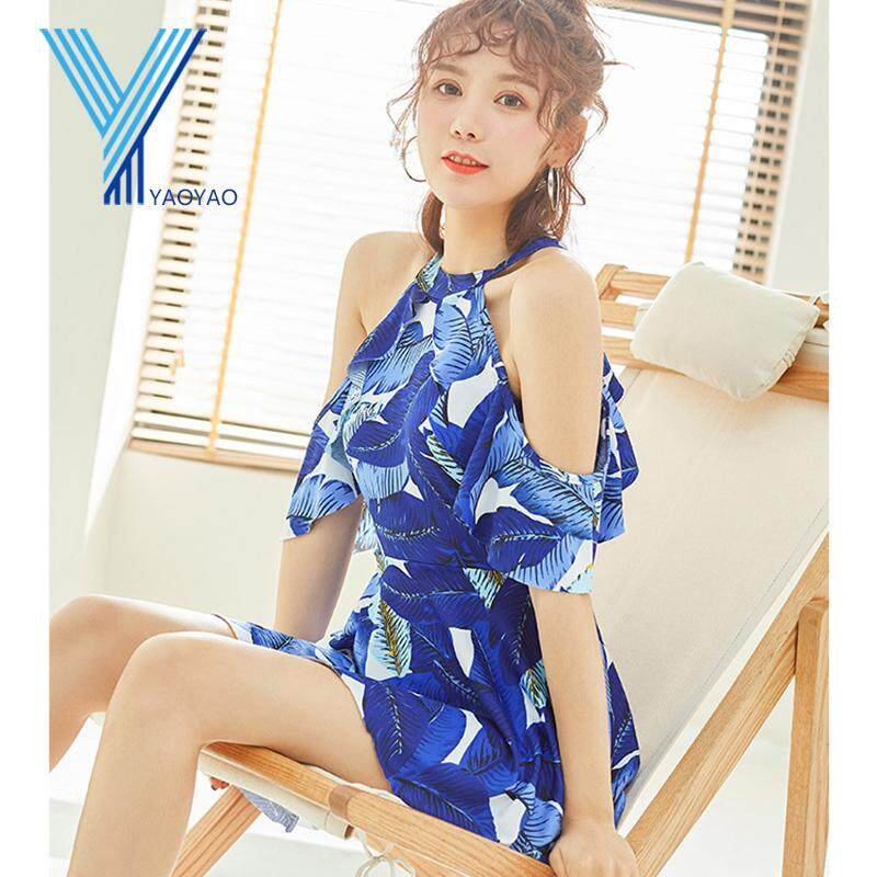 02aea18ea0744 New Fashion Women Korean Hot Spring Conservative Swimsuit Strapless  Slimming Swimsuit with Pad without Steel Support