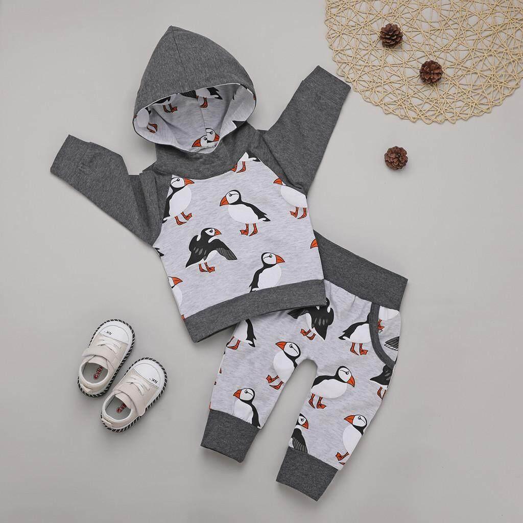 Toddler Infant Kids Baby Boys Cartoon Hoodie Sweatshirt Tops Pants Outfits Set