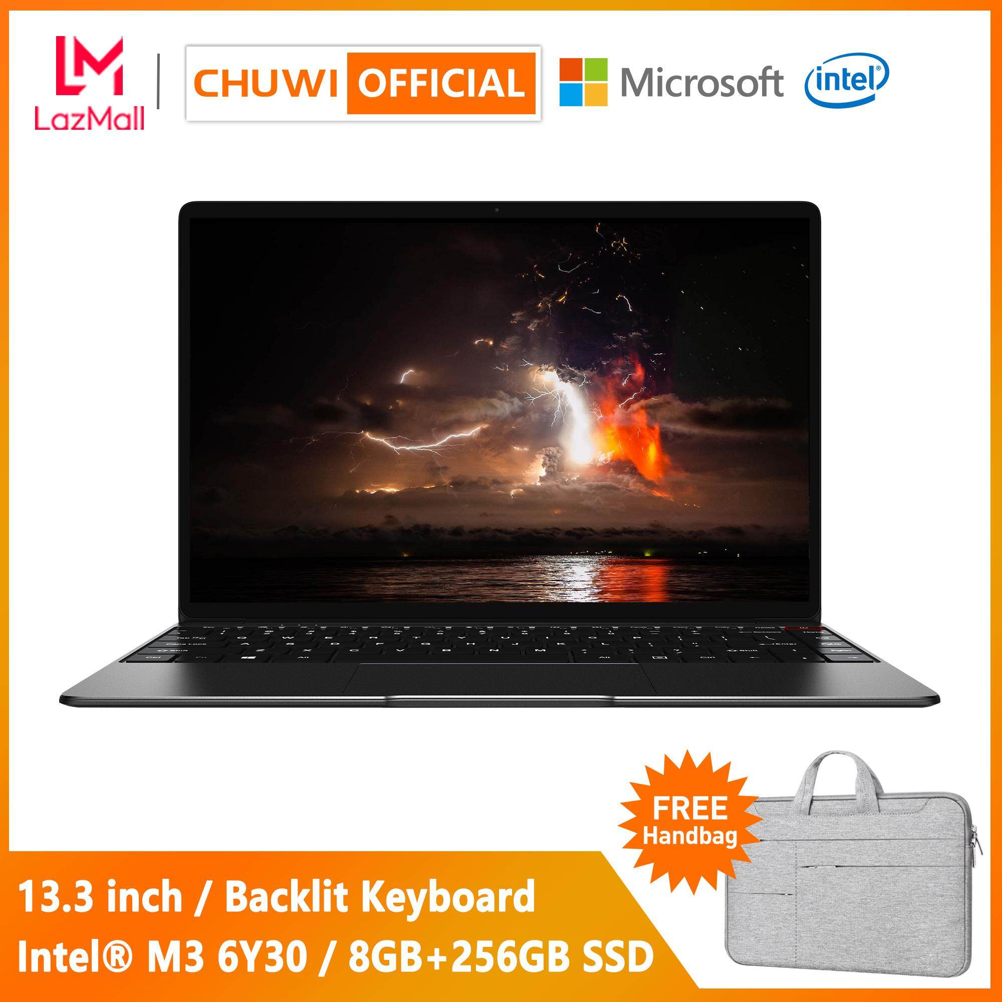 【CHUWI OFFICIAL】AeroBook Laptop / 13 3 Inch 1920*1080 IPS / 8GB RAM+256GB  SSD / Intel® M3 CPU / Borderless Backlit Keyboard / Genuine Windows 10 /