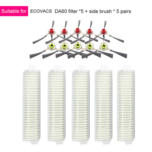 Bảng giá Filter Brushes Accessory Kit Compatible for Ecovacs Deebot Slim Da60 Robot Vacuum Cleaner Điện máy Pico