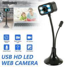 [Jettingbuy] HD Webcam Máy Tính, Camera Kỹ Thuật Số Phát Trực Tiếp Video Lớp Học Trực Tuyến Microphone