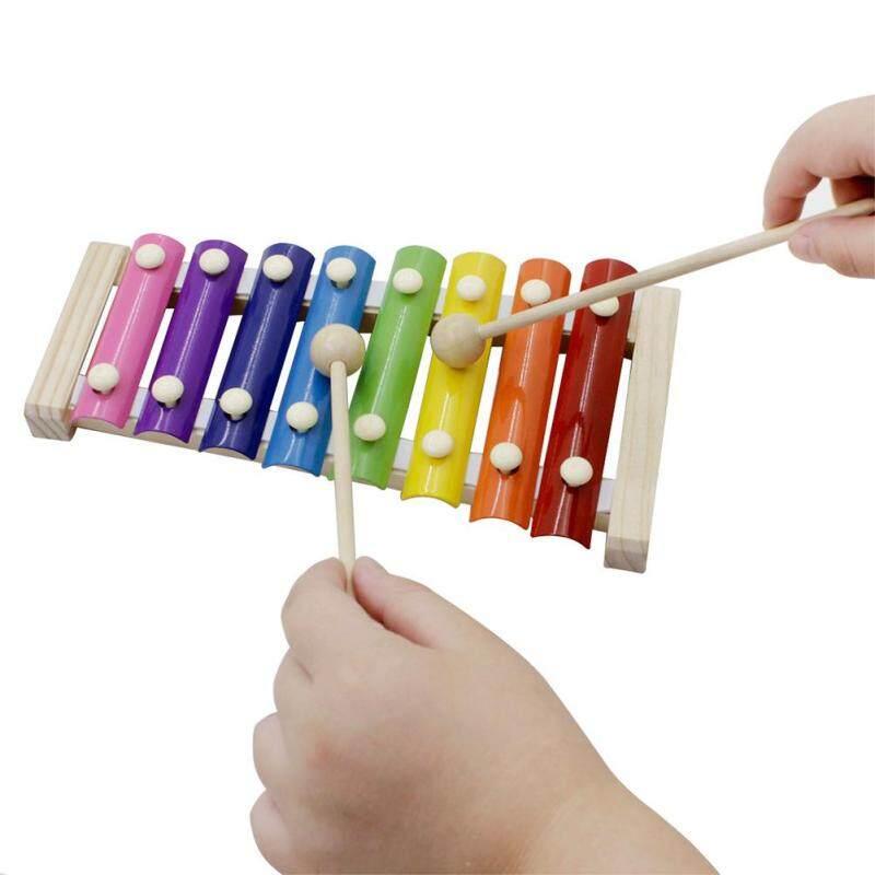 Ngôi sao Trung Tâm Gỗ 8 Tông Màu Đàn Xylophone Nhiều Màu Sắc Gỗ Nhạc Cụ Đồ Chơi Cho Trẻ Em