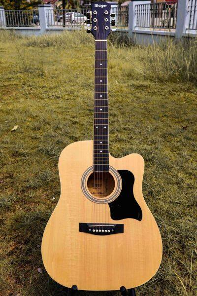 Mayer Pro 41 Standard Semi Acoustic Folk Cutaway Basic Guitar Package 41 Inch for beginners professional Malaysia