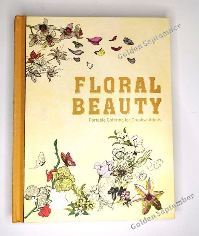 Adult Coloring Book /  Floral Beauty Coloring Book / Coloring for Adult / Stress Release Coloring Book Malaysia