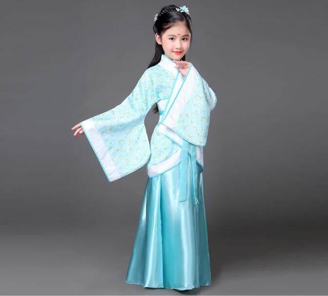 Trẻ em Bé Gái Trang Phục Cổ Tích Đầm Hanfu Công Chúa Cải Tiến Gái Phòng Thu Hiệu Suất Ảnh Vũ Trang Phục Trung Quốc Đường Phong Cách