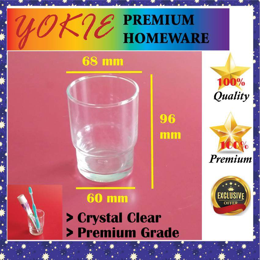 Glass Cup Toothbrush Cup Crystal Clear Toothpaste Cup 250ml