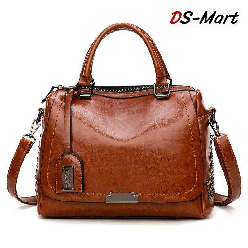1082243d61dc DS-Mart Tote Bags for Women Vintage Rivet Leather Large Capacity Classic  Work Travel Satchels