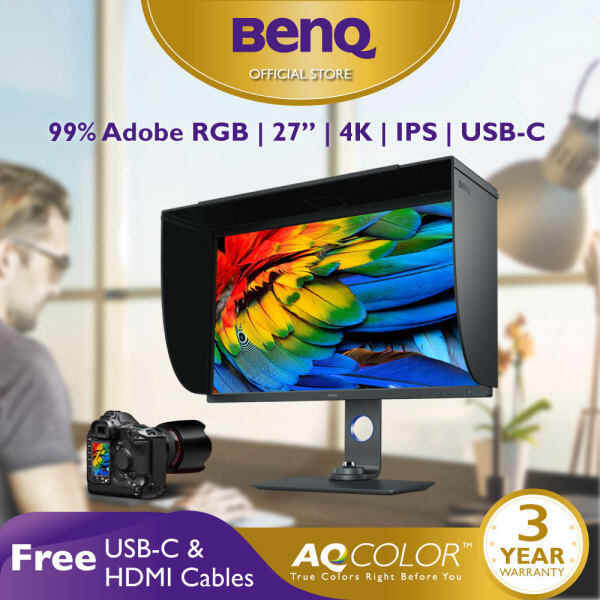 BenQ SW271C 27 inch 4K UHD HDR 99% Adobe RGB USB-C Color Management Photographer Monitor Best for Photo Editing Malaysia