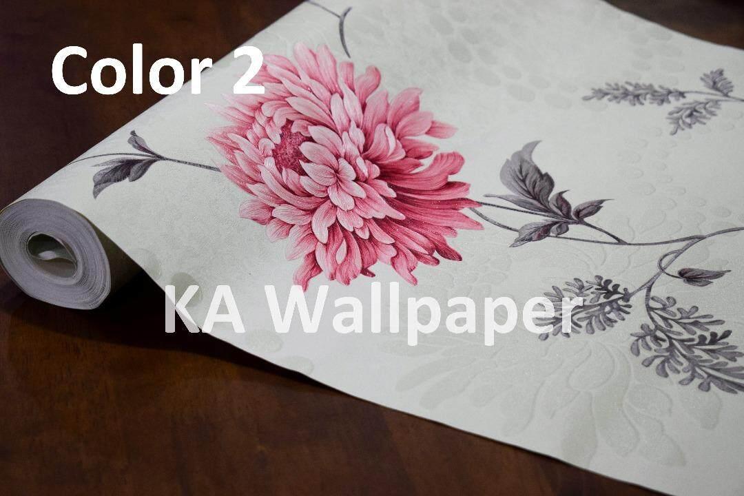 Wallpaper Flower Design Deep Embossed