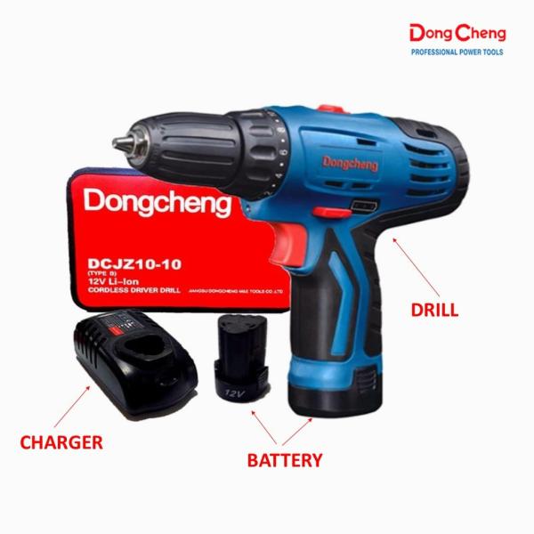 DONG CHENG DCJZ-10 Fullset 12V Cordless Drill Driver/ Screhometock