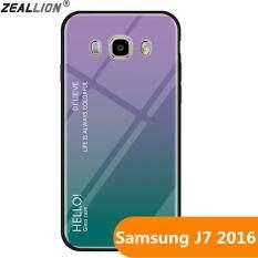 Zeallion Ốp Lưng Kính Cường Lực Gradient Cho Samsung Galaxy J7 2016/J710 Ốp Bảo Vệ Điện Thoại