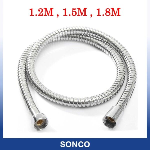 1.2 M / 1.5 M / 1.8 M Stainless Steel Long-lasting Toilet Shower Flexible Hose with Brass Nut ( Brass Nut ) 4ft / 5ft / 6ft