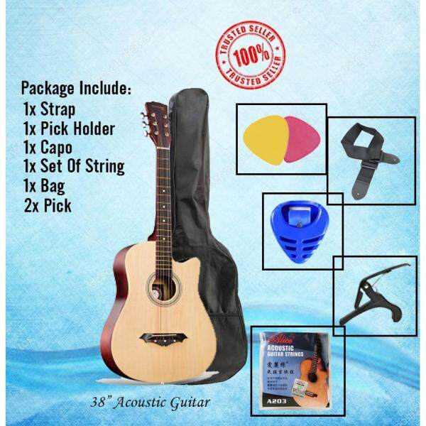 38 inch Guitar Package 7 in 1 (Natural) Malaysia