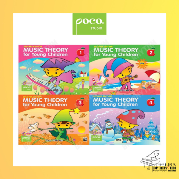 Music Theory for Young Children, Books 1 - 4 by Ying Ying Ng(Second Edition)   Poco Studio Malaysia