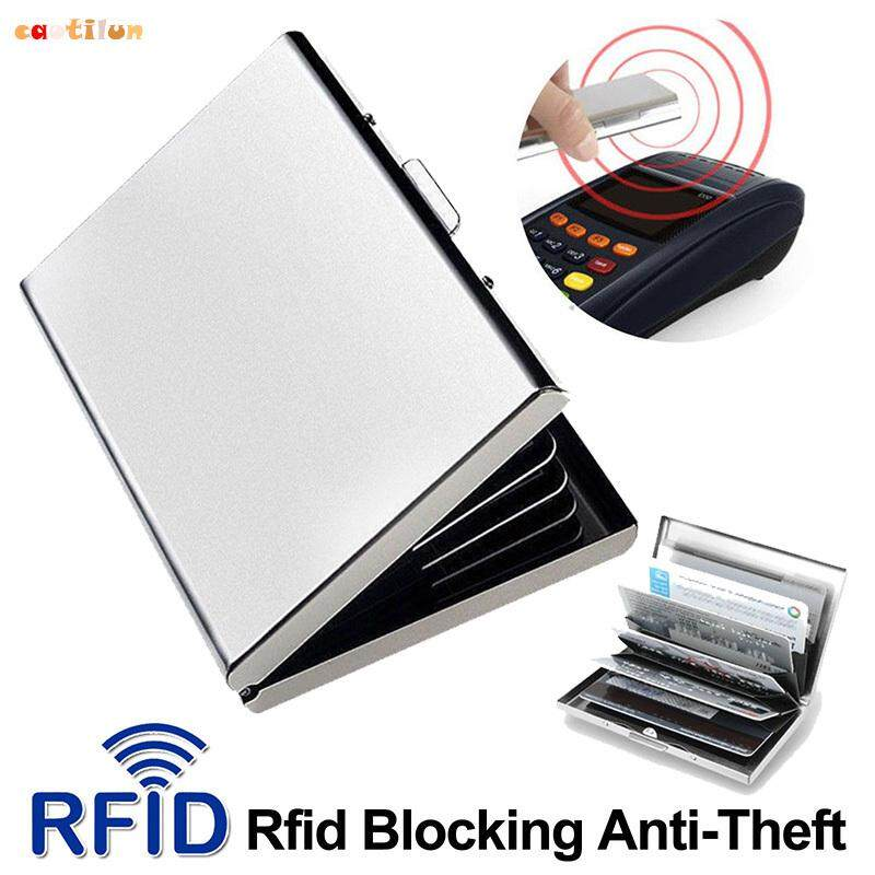 ❤️Caotilun # Stainless Steel Wallet Credit Card Holder Case 6 Slot Protection RFID Blocking