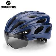 ROCKBROS Mũ Bảo Hiểm Xe Đạp Nhiều Màu Đúc Nguyên Khối Kính Nam Châm Siêu Nhẹ Mũ Bảo Hiểm Xe Đạp Đường Trường MTB Với Kính 57-62 CM 5 Màu