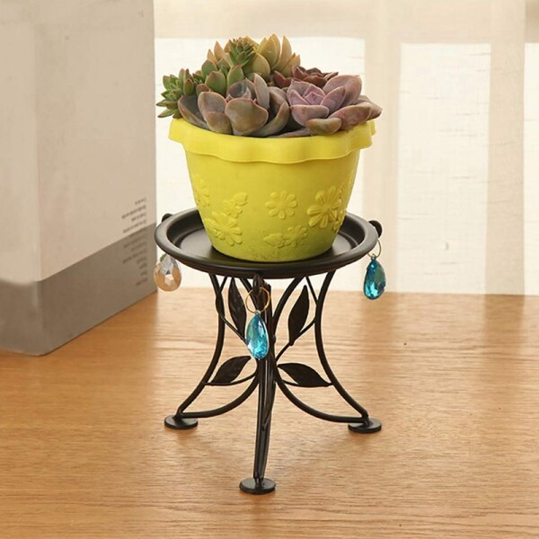 Mini Countertop Plant Stand Metal Potted Plant, Decorative Flower Pot Rack Indoor Outdoor Bracket