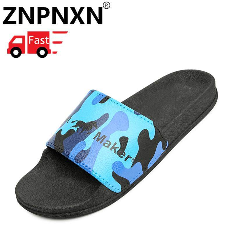 4c403d60d634 ZNPNXN New Summer Man Bathroom Slippers Men Beach Sandals Fashion Outdoor  Indoor Home Slippers Non-
