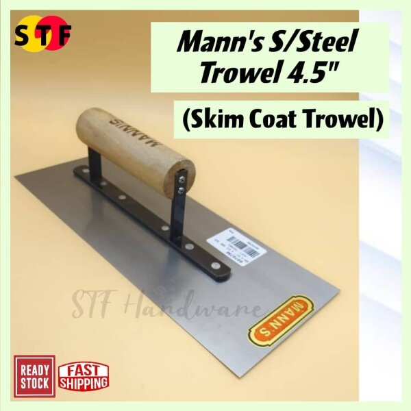 [High Quality] MANNS 4.5 x 0.03MM Stainless Steel Soft Trowel