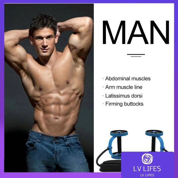 [In Stock]Fitness Multi-Function Elastic Rally Fitness for Men and Women Wheel Two-Wheeled Abdominal Device Pull Rope Fitness Machine