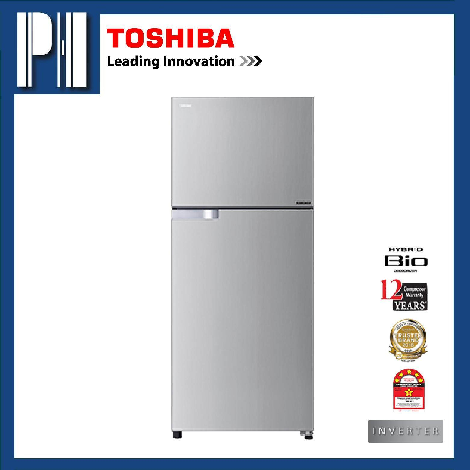 TOSHIBA GR-A43MBZ (RS) 430L Inverter 2 Doors Refrigerator/Fridge