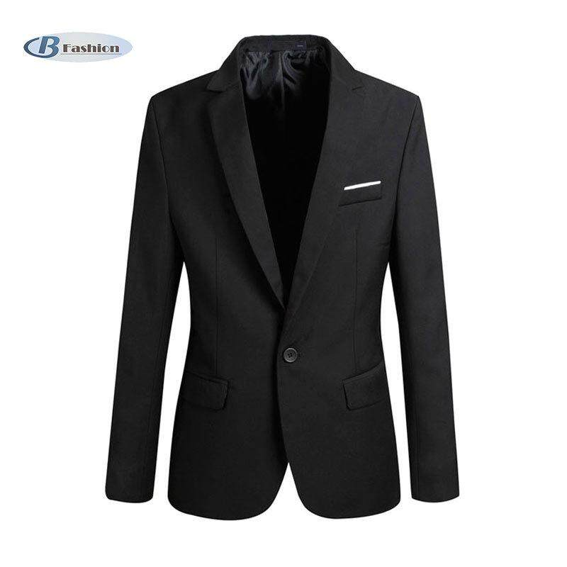 B-F Fashion Spring Autumn Men Blazer Long Sleeve Solid Color Slim Man Casual Thin Suit Jacket Office Blazers Plus Size S-6xl By B-Fashion.