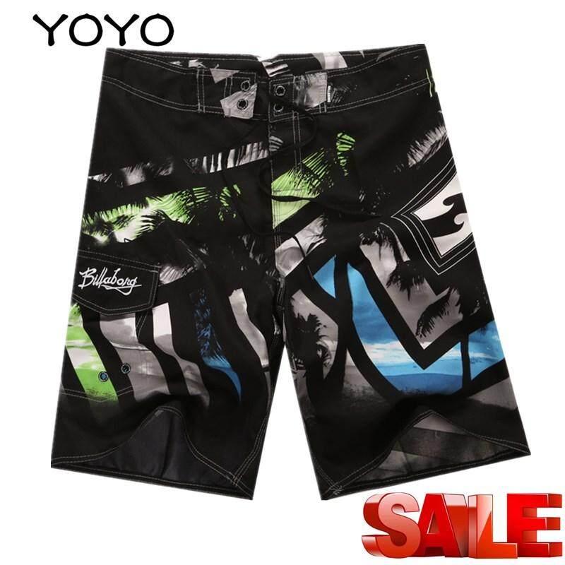 f4b8899b91 YOYO Summer Men'S Shorts Beach Pants Swim Trunks Quick-Drying Beach Pants  Surfing Beach Pants