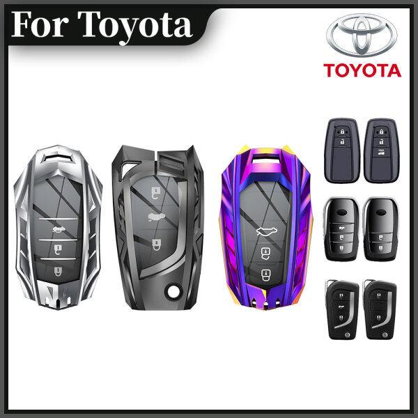 Vỏ Bọc Chìa Khóa Thông Minh PoknBoos, Vỏ Bảo Vệ Bằng Kim Loại Cho Toyota VIOS YARIS Hilux ALTIS Avanza C-HR RAV4
