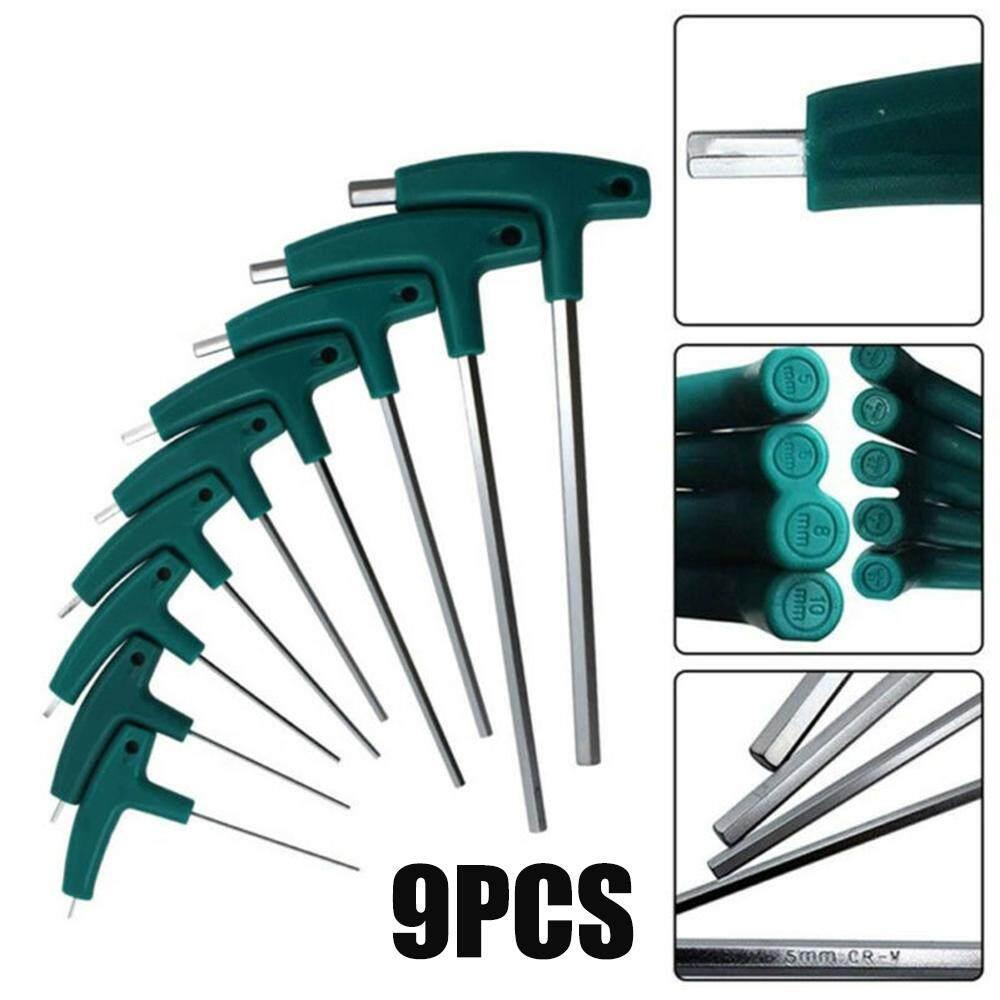 T-Handle Hex Allen Key Screws Screwdriver Driver Tools 1.5mm-10mm Wrenches UK
