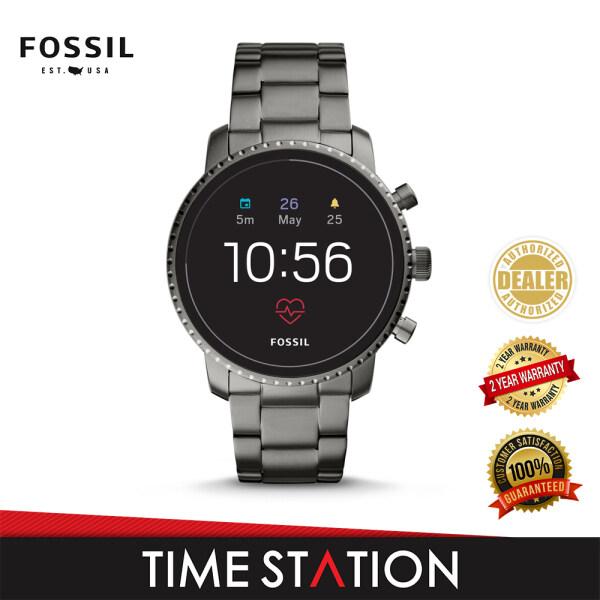 Fossil Explorist Gen 4 HR Black Stainless Steel Mens Smart Watch FTW4012 Malaysia
