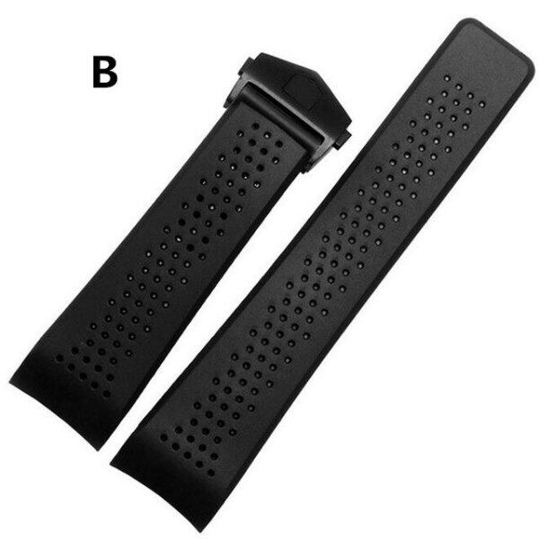 20mm 22mm 24mmm For TAG Top Rubber Silica Gel Watch Bands Strap Watchband Fold Butterfly Stainless Steel Clasp Malaysia