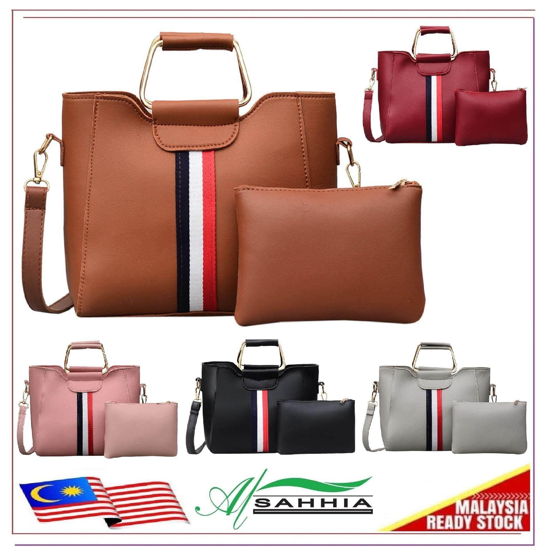 09575eff3 1P3 Al Sahhia Ready Stock 2 in 1 3 Line Sling Shoulder Purse Women Bags