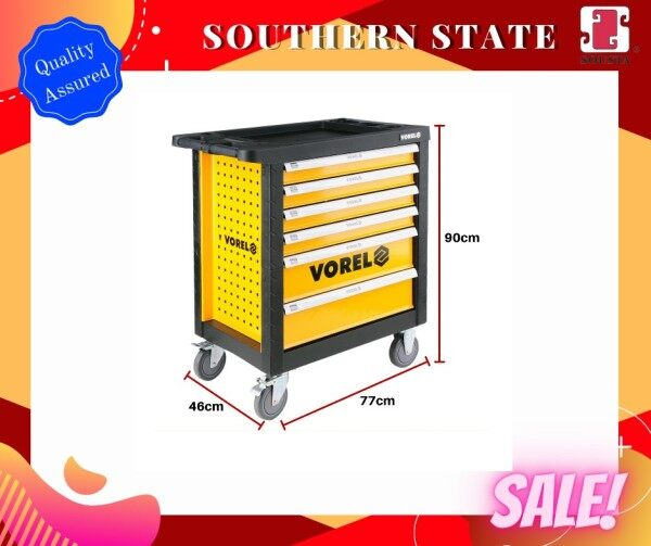Vorel 6 Drawers Roller Cabinet With Tools Insert