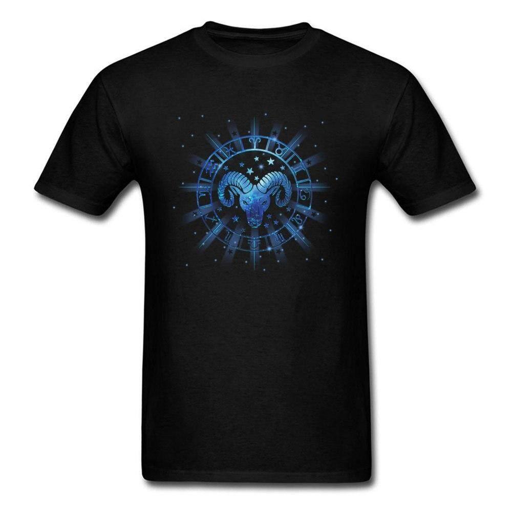 Xind Maret 21-19 April 2018 Pria Kepala Kambing Cetak T Shirt Hitam Biru Seni Desain Pria Atasan Kaus Lengan Pendek Sweater Katun