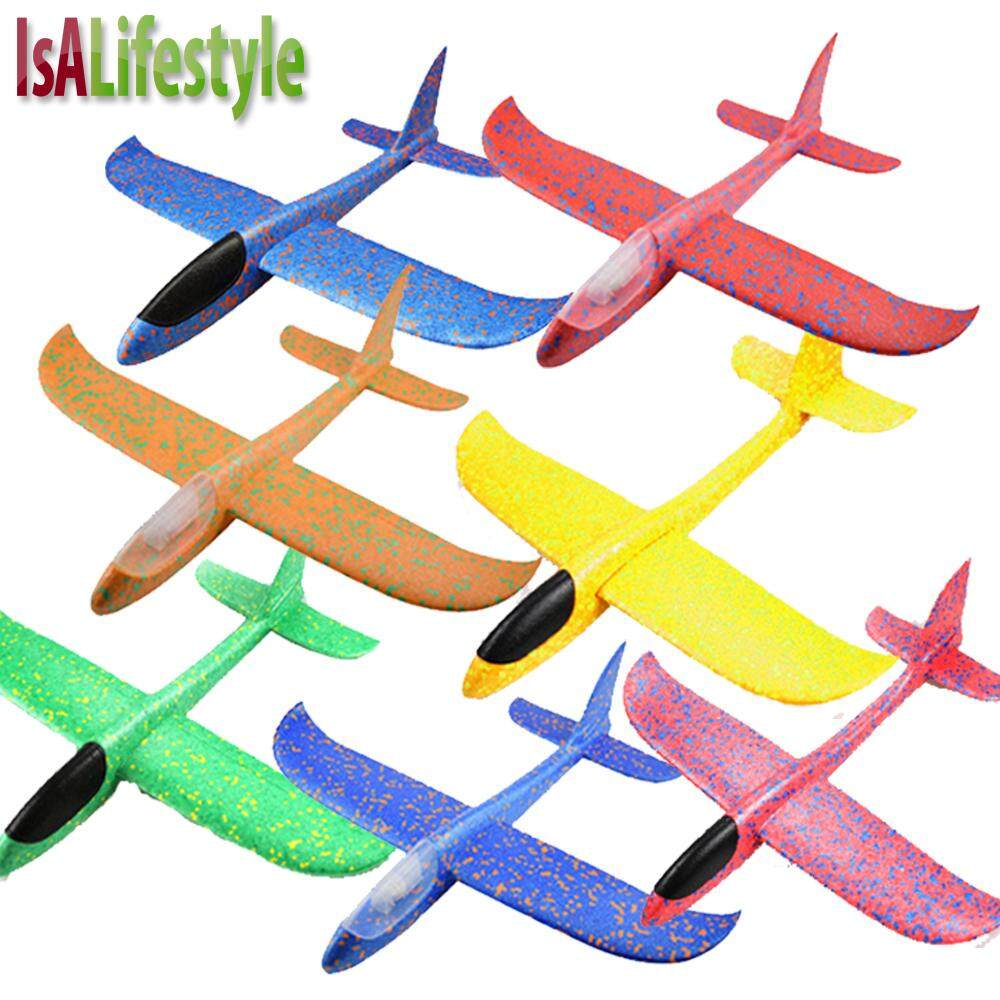 IsALifestyle Kids Hand Throw Flying Glider Planes Toy Foam Aeroplane Model  Outdoor Sports Toys for boys