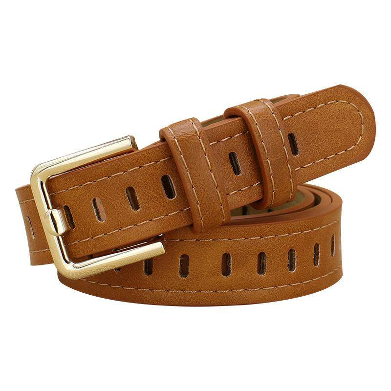 83ffd59eb Hollow Decorative Belts for Women Thin Strap Female Fashion Leather  Waistband For Jeans