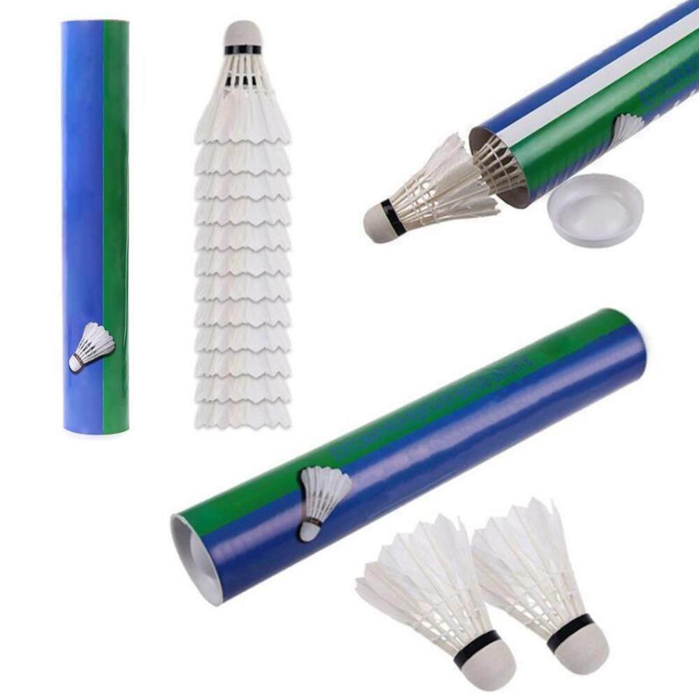 Bảng giá [JYA][Tiền mặt khi giao hàng + vận chuyển hàng hóa cho 3 mặt hàng bất kỳ]Badminton Balls Goose Feather Shuttlecocks White 12 Pcs for Sport Training