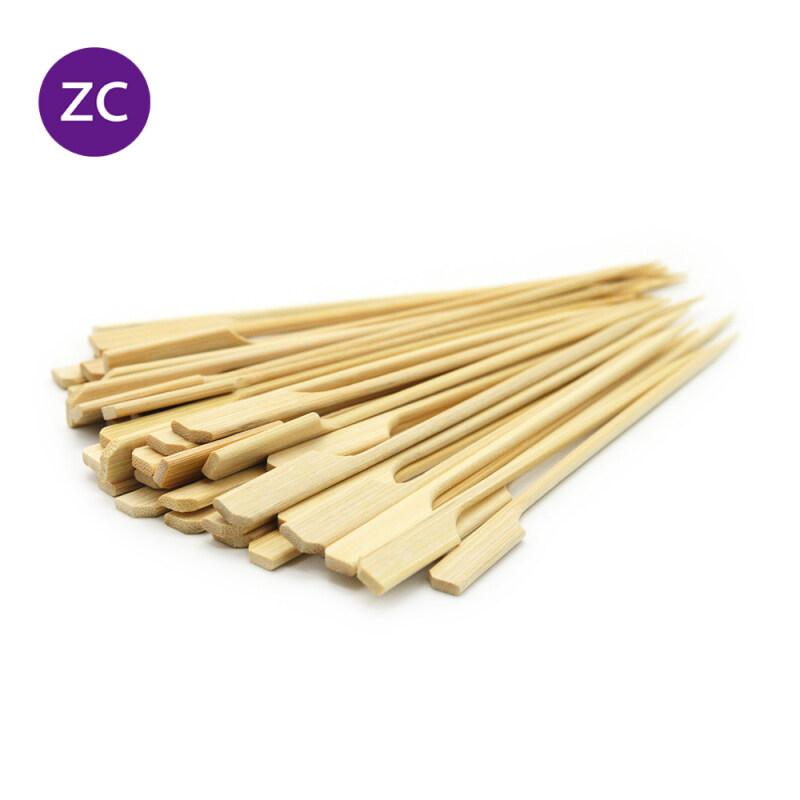 50pcs Natural Bamboo Skewers Sticks Bamboo Paddle Pick Skewers Roasting Sticks Oden Stick Skewer (15cm / 25cm)