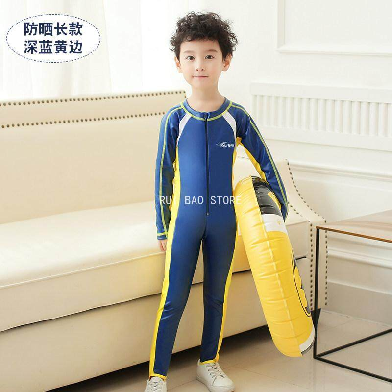 Rui Bao Store New Childrens Swimsuit For Men And Women Sunscreen Swimming Quick-Drying Wetsuit By Rui Bao Store.