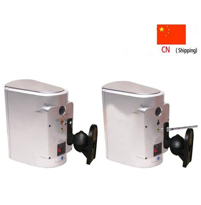 (1 Pair) Universal Surround Holder Speaker Bracket Wall Mount Tilt Swivel Holder Stand S03.