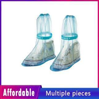1 Đôi Giày Đi Mưa Bao Dày Chống Thấm Nước Giày Chu Kỳ Mưa Phẳng Chống Trơn Trượt Trên Giày thumbnail