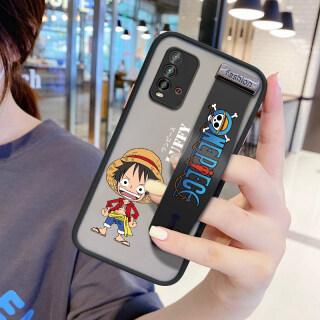 UCUC Trường Hợp Ốp Anime Xiaomi Redmi 9T Luffy Bìa (Có Dây Đeo Cổ Tay) Ốp Điện Thoại Bảo Vệ Toàn Bộ Ống Kính Mờ Chống Sốc Hoạt Hình Xiomi Redmi9t thumbnail