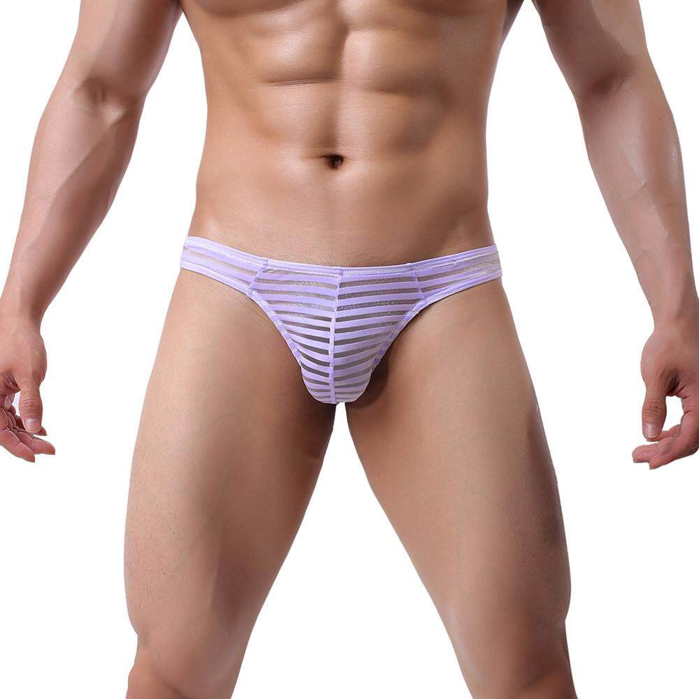 46b77094adb 2019 KLEIN Sexy Gay Underwear Men's Ultr-thin Ice Silk Man Low Waist U  Convex