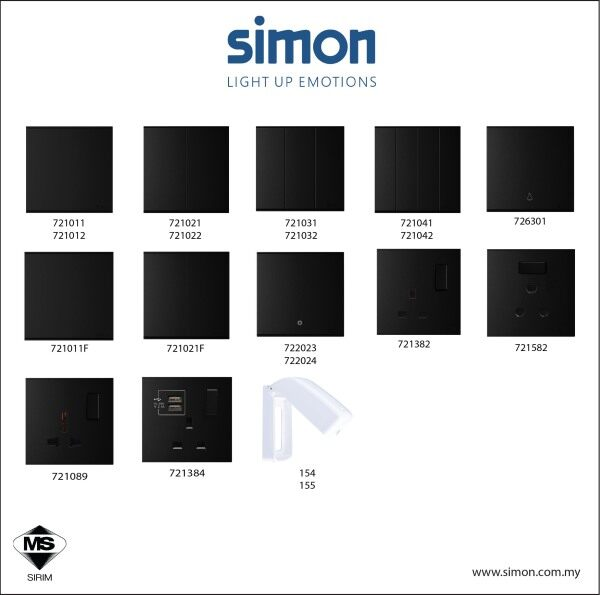Simon E6 Series Switch  / Switches & Socket Outlet