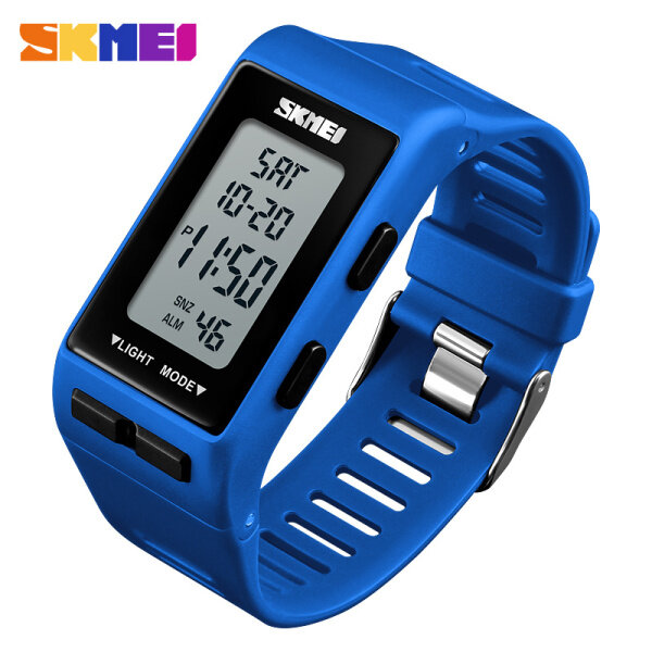 SKMEI Men Watch Top Brand 30M Waterproof LED Digital Backlight Alarm Stopwatch Date Display Second Outdoor Sport Square Men Watch Malaysia