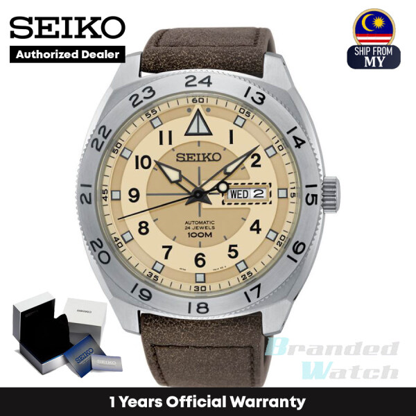 [Official Warranty] Seiko SNDH43P1 Mens Creteria Chronograph Quartz Brown Leather Strap Watch (watch for men / jam tangan lelaki / seiko watch for men / men watch) Malaysia